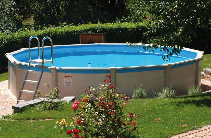 Pool grande rund pool friends 366 x 135 cm ohne for Garten pool hagebau